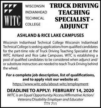 Truck Driving Teaching Specialist