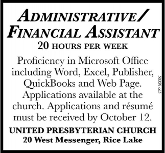 Administrative/Financial Assistant