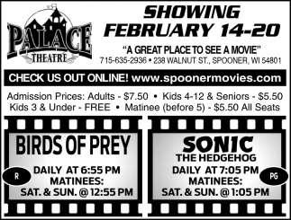 Showing February 14 - 20