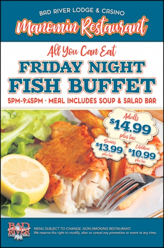Manomin Restaurant Friday Night Fish Buffet