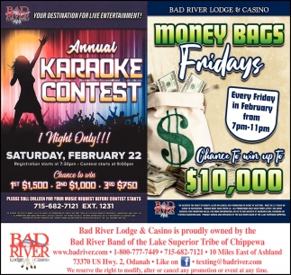 Annual Karaoke Contest / Money Bags Fridays