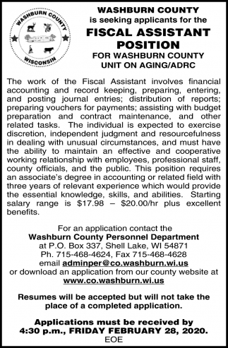 Fiscal Assistant Position