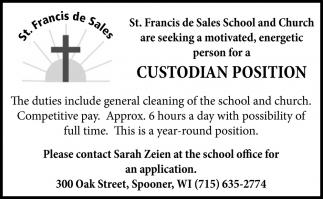 Custodian Position