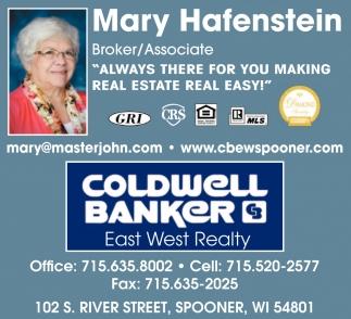 Mary Hafenstein, Broker/Associate