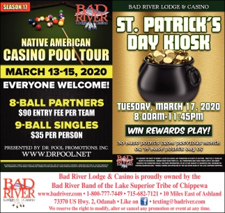 Native American Casino Pool Tour / St. Patrick's Day Kiosk