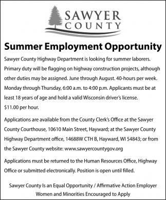 Summer Employment Opportunity