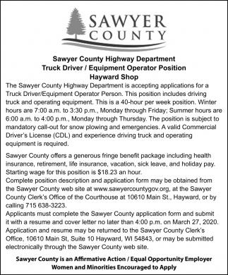 Truck Driver / Equipment Operator
