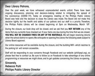 Dear Library Patrons