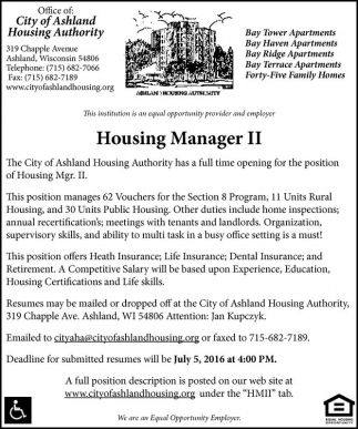 Housing Manager II