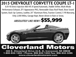 2015 Chevrolet Corvette Coupe LT-1