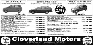 Chevy, Ford, Pontiac
