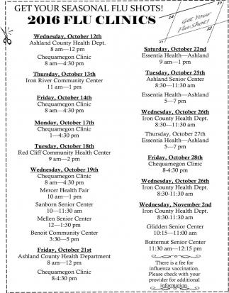 2016 Flu Clinics