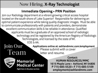 X-Ray Technologist