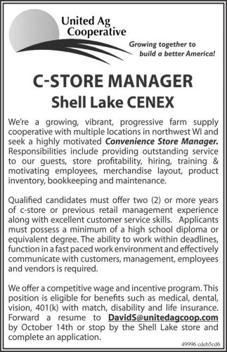 C-Store Manager Shell Lake CENEX