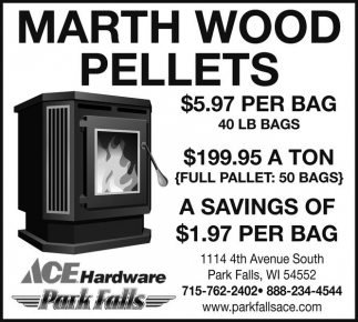 Marth Wood Pellets Ace Hardware Park Falls Park Falls Wi