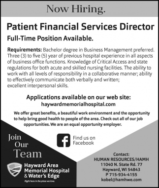 Patient Financial Services Director