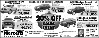 20% OFF Sales Event