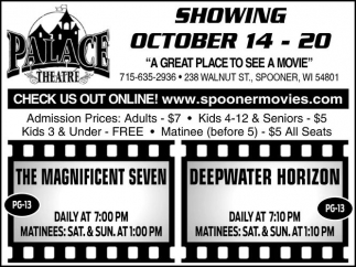 SHOWING OCTOBER 14 - 20