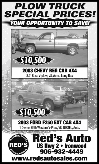 Plow Truck Special Prices