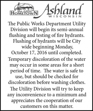 Flushing and Testing of Fire Hydrants