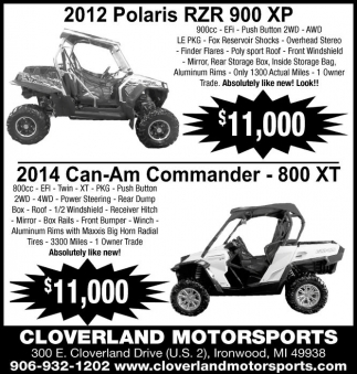2012 Polaris - 2014 Can-Am