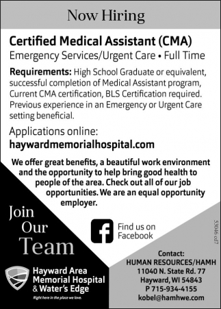 Certified Medical Assistant (CMA)