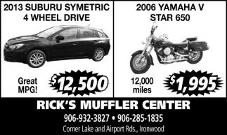 2013 Subaru / 2006 Yamaha