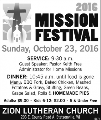 2016 Mission Festival