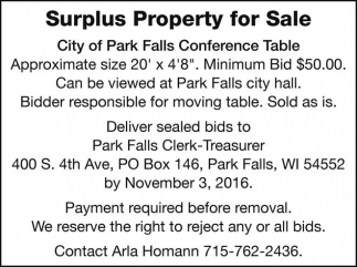 Surplus Property for Sale