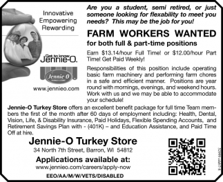 Farm Workers Wanted