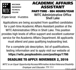 Academic Affairs Assistant