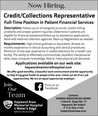 Credit/Collections Representative