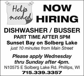 Dishwasher / Busser