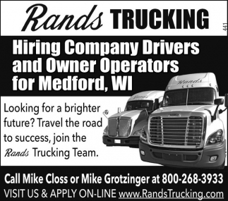 Company Drivers/Owner Operators - Medfor