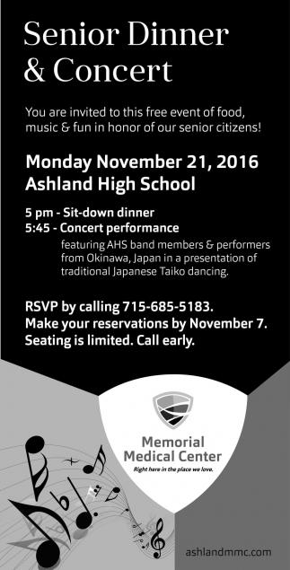 Senior Dinner and Concert