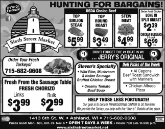 HUNTING FOR BARGAINS