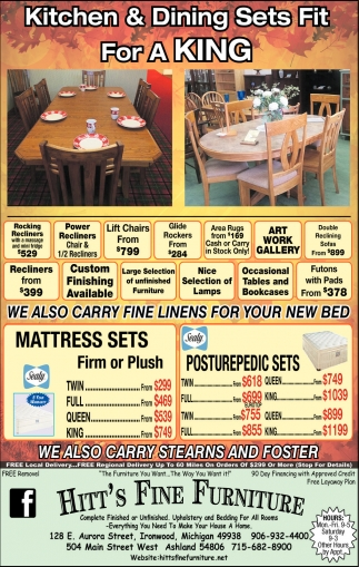 We also carry stearns and foster