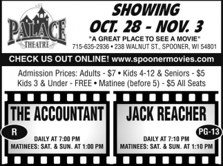 SHOWING OCT. 28 - NOV. 3