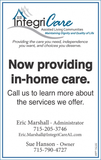 Now providing in-home care