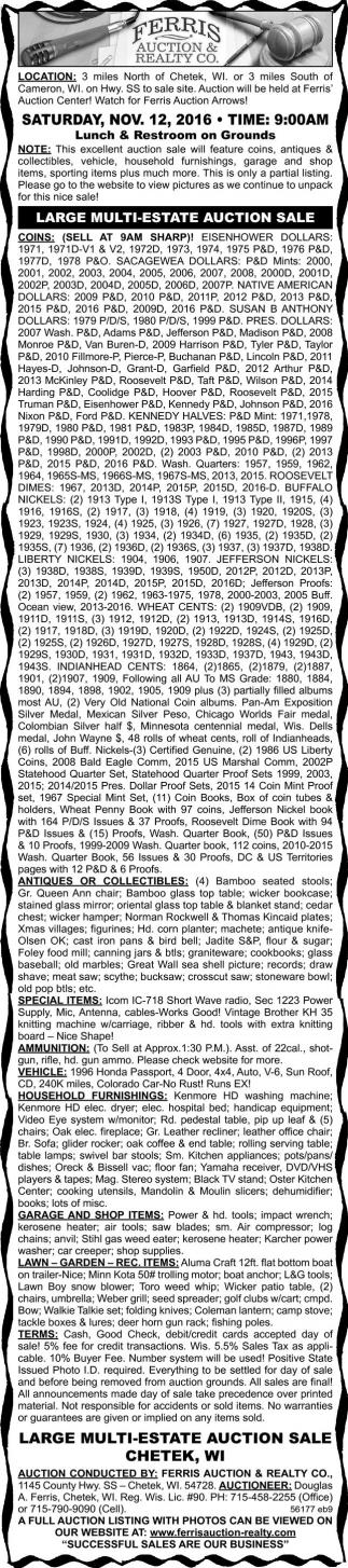 Large Multi Estate Auction Sale