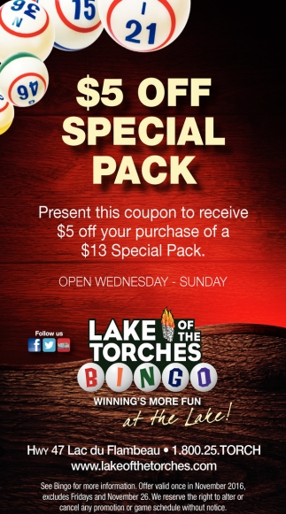 $5 off special pack