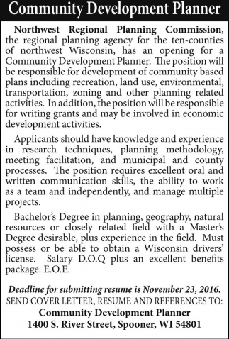 Community Development Planner