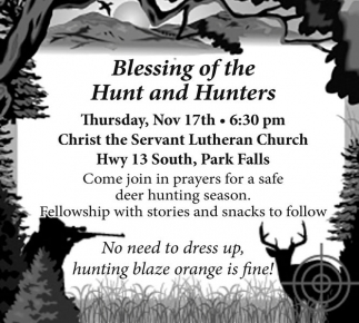 Blessing of the HUnt and Hunters