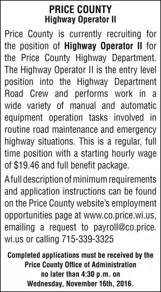 Highway Operator II