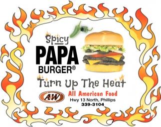 Spicy Papa Burger