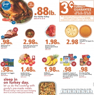 3¢ turkey guarantee