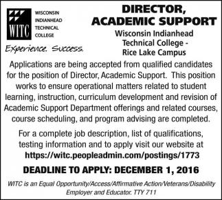 Director, Academic Support