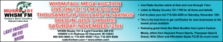 WHSM FALL MEGA AUCTION