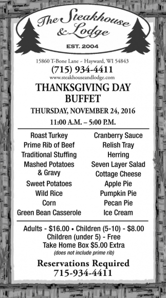 Thanksgiving Day Buffet