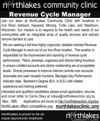 Revenue Cycle Manager